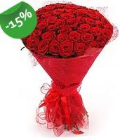 51 adet kırmızı gül buketi özel hissedenlere  Erzincan online çiçekçi , çiçek siparişi