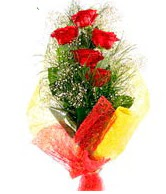 5 li kırmızı gül buketi  Erzincan çiçek yolla , çiçek gönder , çiçekçi
