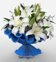 4 dal kazablanka çiçeğinden buket  Erzincan çiçekçi telefonları
