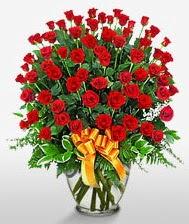 Görsel vazo içerisinde 101 adet gül  Erzincan çiçekçi telefonları