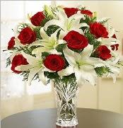 12 adet kırmızı gül 2 dal kazablanka vazosu  Erzincan çiçek servisi , çiçekçi adresleri