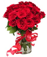 21 adet vazo içerisinde kırmızı gül  Erzincan çiçek servisi , çiçekçi adresleri