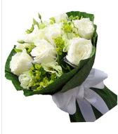 9 adet beyaz gül buketi  Erzincan online çiçekçi , çiçek siparişi