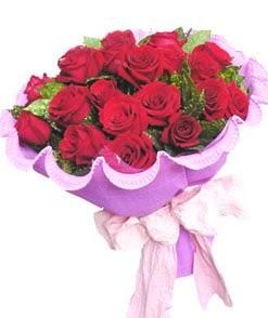 12 adet kırmızı gülden görsel buket  Erzincan yurtiçi ve yurtdışı çiçek siparişi