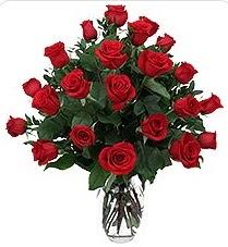 Erzincan online çiçekçi , çiçek siparişi  24 adet kırmızı gülden vazo tanzimi