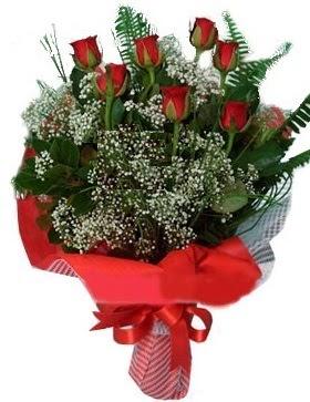 7 kırmızı gül buketi  Erzincan internetten çiçek satışı