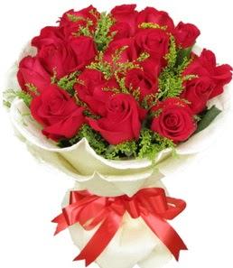 19 adet kırmızı gülden buket tanzimi  Erzincan internetten çiçek satışı