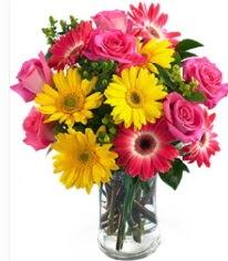 Vazoda Karışık mevsim çiçeği  Erzincan yurtiçi ve yurtdışı çiçek siparişi