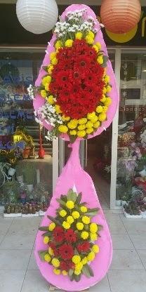 Çift katlı düğün nikah açılış çiçek modeli  Erzincan İnternetten çiçek siparişi