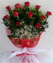 11 adet kırmızı gülden görsel çiçek  Erzincan çiçek servisi , çiçekçi adresleri