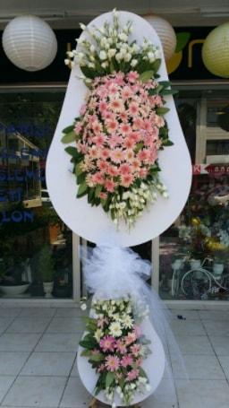 Çift katlı özel şahane sepet çiçeği  Erzincan çiçek online çiçek siparişi