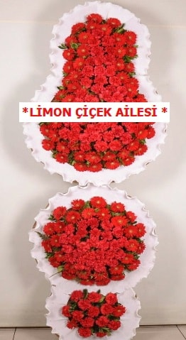 3 katlı kırmızı düğün açılış çiçeği  Erzincan hediye sevgilime hediye çiçek