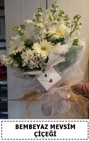 Bembeyaz görsel mevsim çiçek buketi  Erzincan anneler günü çiçek yolla