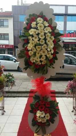 Çift katlı düğün açılış çiçeği  Erzincan çiçek servisi , çiçekçi adresleri