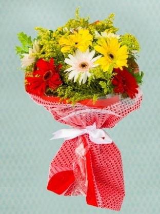 Karışık Gelbera Buketi  Erzincan online çiçekçi , çiçek siparişi