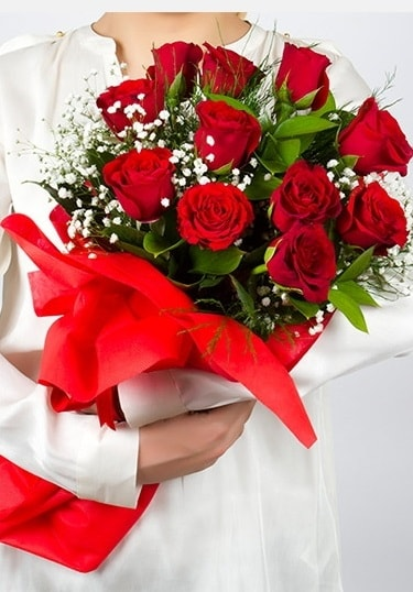 Aşk Gülleri 11 Adet kırmızı gül buketi  Erzincan çiçek online çiçek siparişi