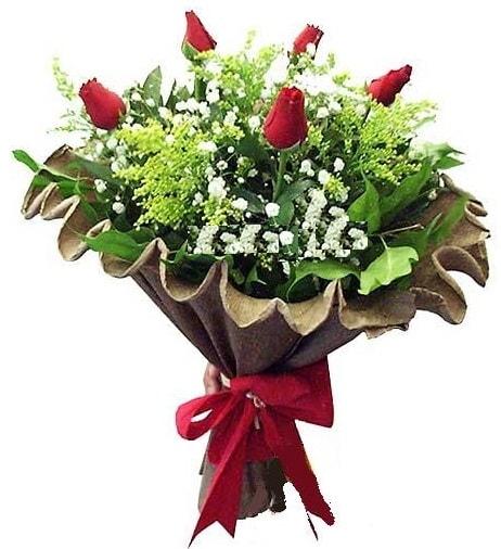 5 adet gülden buket  Erzincan 14 şubat sevgililer günü çiçek