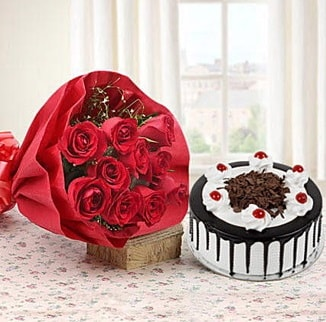 12 adet kırmızı gül 4 kişilik yaş pasta  Erzincan çiçek mağazası , çiçekçi adresleri