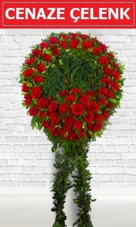 Kırmızı Çelenk Cenaze çiçeği  Erzincan uluslararası çiçek gönderme