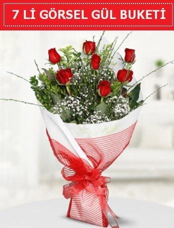 7 adet kırmızı gül buketi Aşk budur  Erzincan çiçek servisi , çiçekçi adresleri