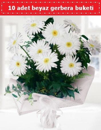 10 Adet beyaz gerbera buketi  Erzincan çiçek mağazası , çiçekçi adresleri