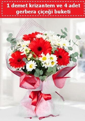 Krizantem ve Gerbera Buketi  Erzincan online çiçekçi , çiçek siparişi