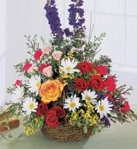 Erzincan cicek , cicekci  Mevsim çiçekleri sepeti